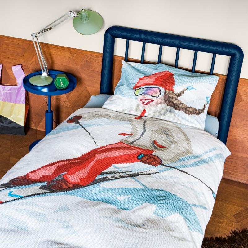 Snurk Alpenchic Bettwäsche Garnitur SKI GIRL 160x210+65x100 cm
