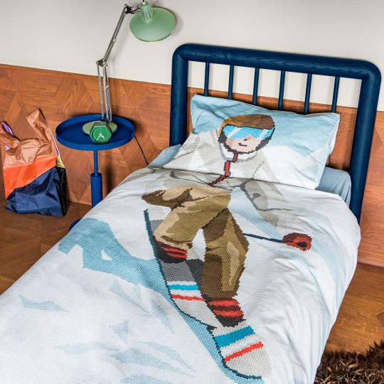Snurk Alpenchic Bettwäsche Garnitur SKI BOY 160x210+65x100 cm