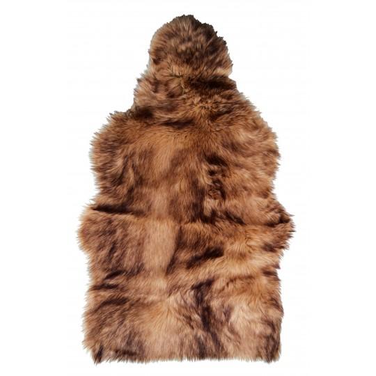 Winter Home Fellimitat Geschenk-Beutel Steppenwolf 30cm Braun