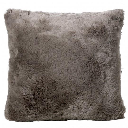 Winter Home Kissen Fellimitat Seal Taupe ca. 45x45 cm