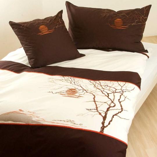 Bettwäsche mit Stickerei Landschaft