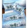 Jugendbettwäsche Garnitur Blau mit Eisbär Motiv