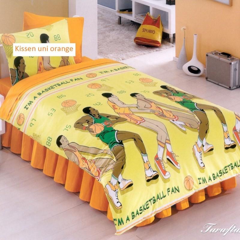 Kinderbettwäsche Garnitur Basketball 135x170 cm