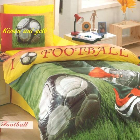 Kinderbettwäsche Footbal für coole Jungs