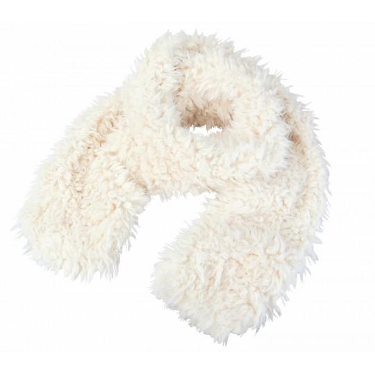 Winter Home Schal Fellimitat Lamb weiss