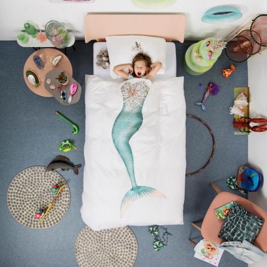 Snurk Jugendbettwäsche Meerjungfrau 160x210+65x100 cm
