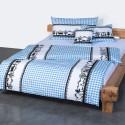 Landhaus Bettwäsche Eidgenuss blau