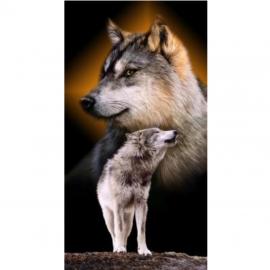 Strandtuch Wolfpaar 76x152 cm