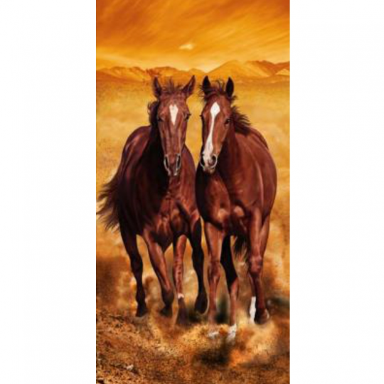 Strandtuch Arizona Horses 76x152 cm