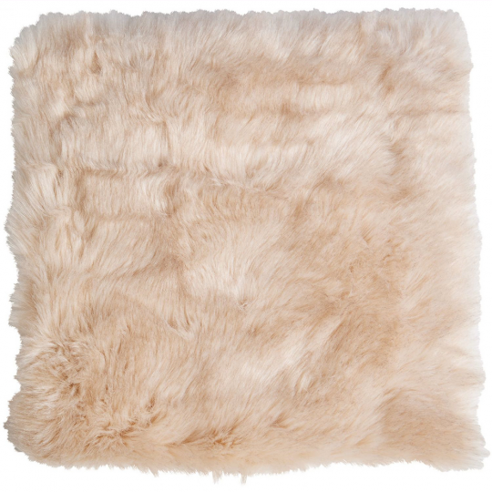 Winter Home Fellimitat Sitzpolster Sandwolf Beige 40x40 cm