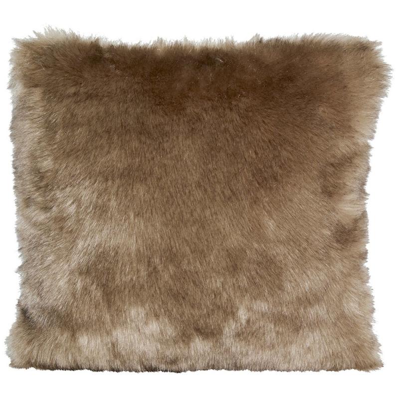 Winter Home Kissen Fellimitat Savannawolf Braun