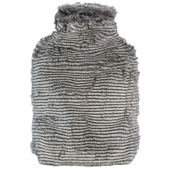 Winter Home Wärmflasche Fellimitat Silverracoon Grau