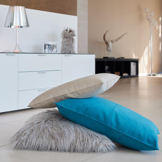 Winter Home Kissen Fellimitat Curlywhite 45x45 cm günstig kaufen