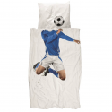 Snurk Jugendbettwäsche Fussball 160x210+65x100 cm blau