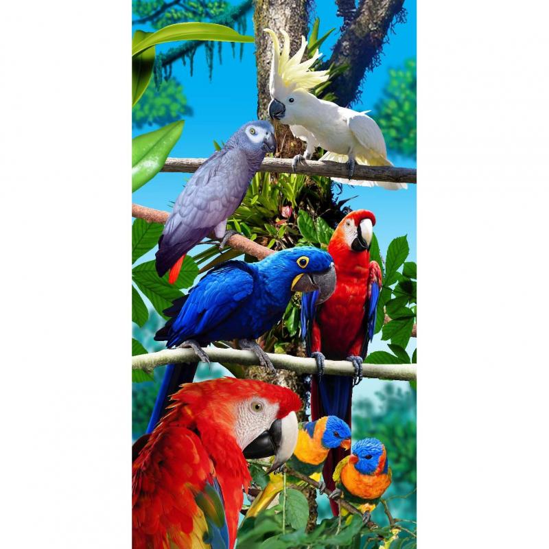 Strandtuch Papagei 76x152 cm