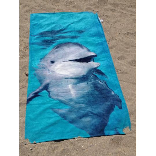 Strandtuch Katze mit wolle 76x152 cm