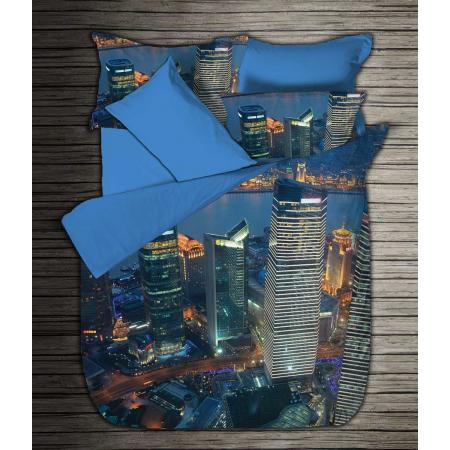 Digitaldruck Bettwäsche Satin Boutique City