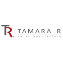 Tamara R Selection Satin Bettwäsche Garnitur Liya mit blätter Weiss Blau