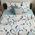 Tamara R Selection Satin Bettwäsche Garnitur Patsy blau mit Aquarell Muster