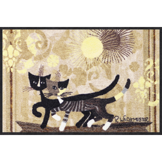 Fussmatte Passeggiata 75x120 cm, braun, Katze