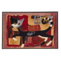 Design Fussmatte Ivanoe with Mouse 50x75 cm, rot Katze