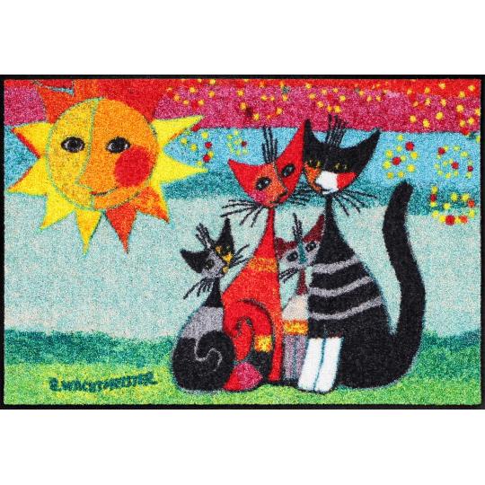 Design Fussmatte Momenti 50x75 cm mit Katzenmuster