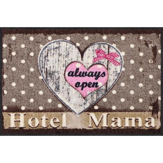Fussmatte Hotel Mama, braun 50x75 cm