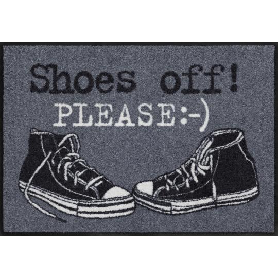 Fussmatte Shoes off Dunkelgrau 50x75 cm