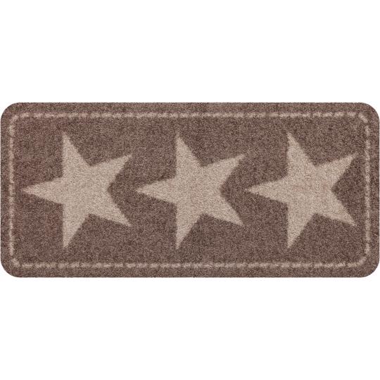 Fussmatte ohne Rand Stars Nougat 30x60 cm