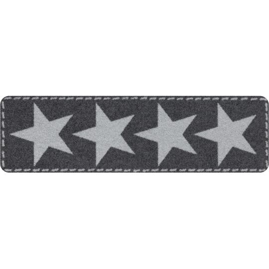 Fussmatte ohne Rand Stars Silver 30x100 cm