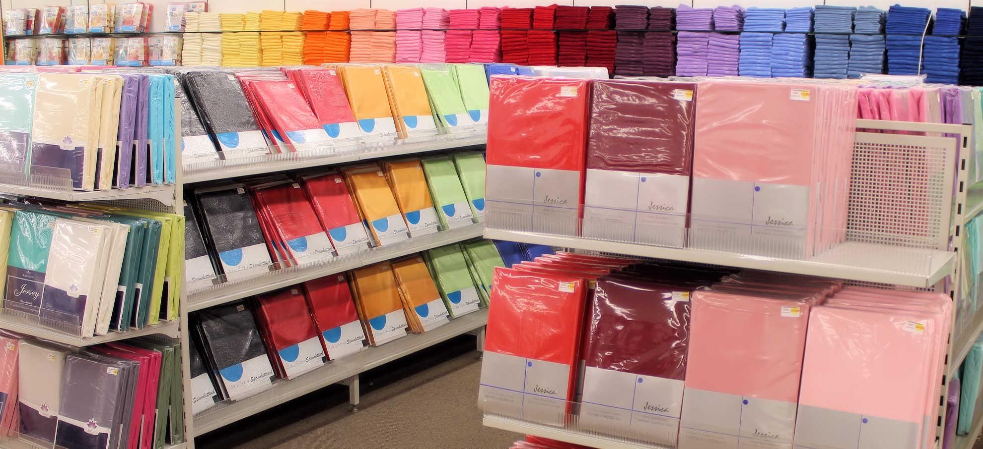 Fixleintücher in vielen Farben.